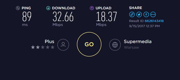 plus - prędkość internetu przy wielu pracujących maszynach