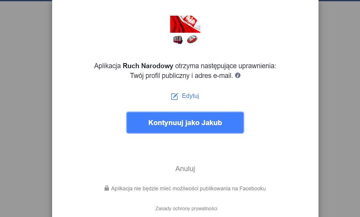 polfejs aplikacja ruch narodowy