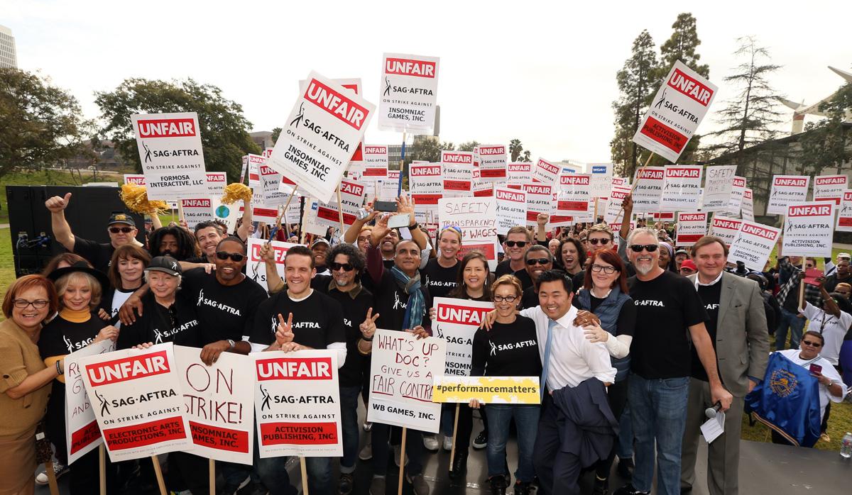 sag-aftra strajk osób podkładających głos