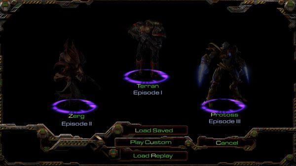 StarCraft: Remastered - wybór epizodu