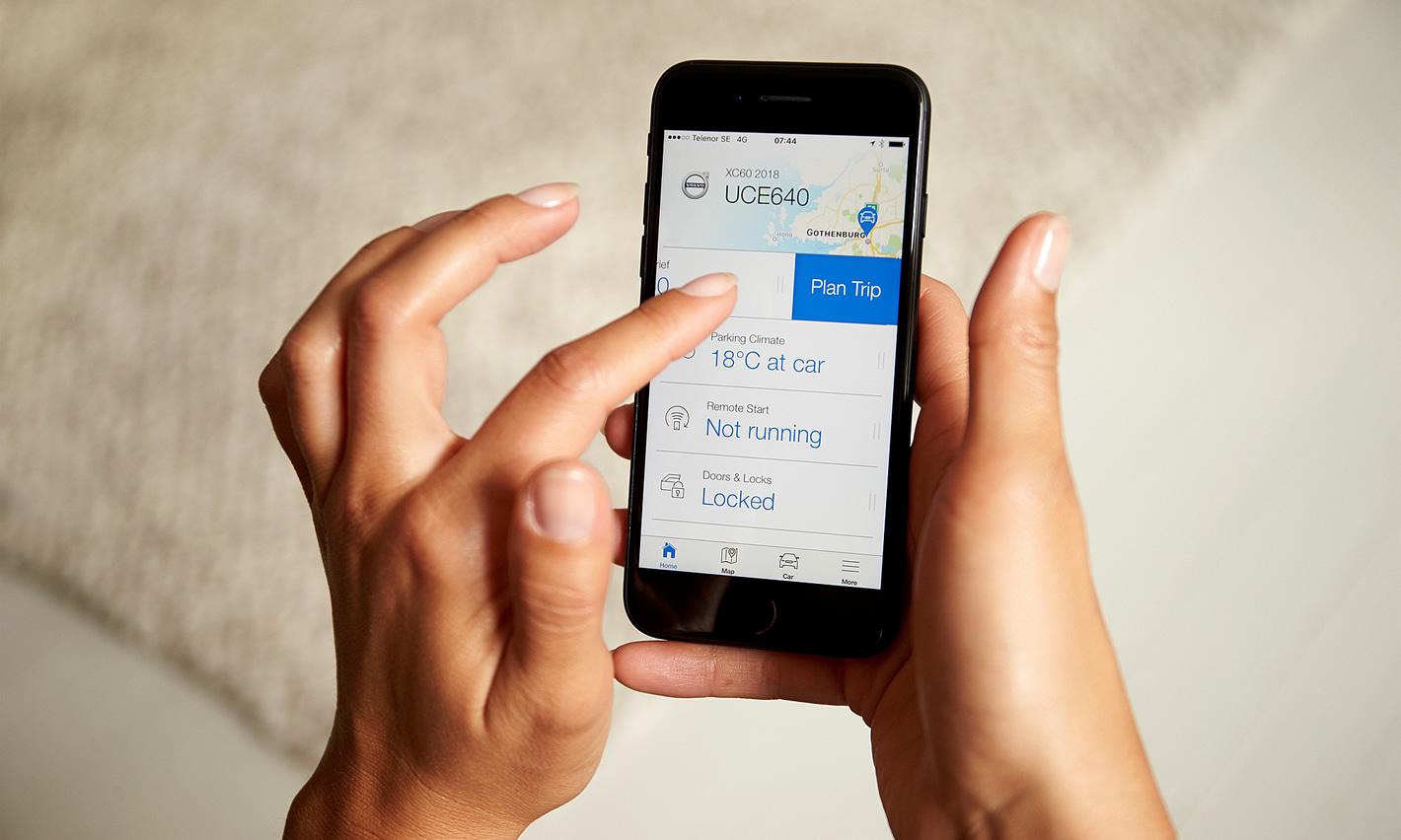 Aplikacja Volvo On Call Volvo XC40