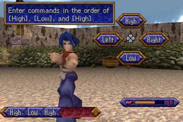 Legend of Legaia - tryb walki