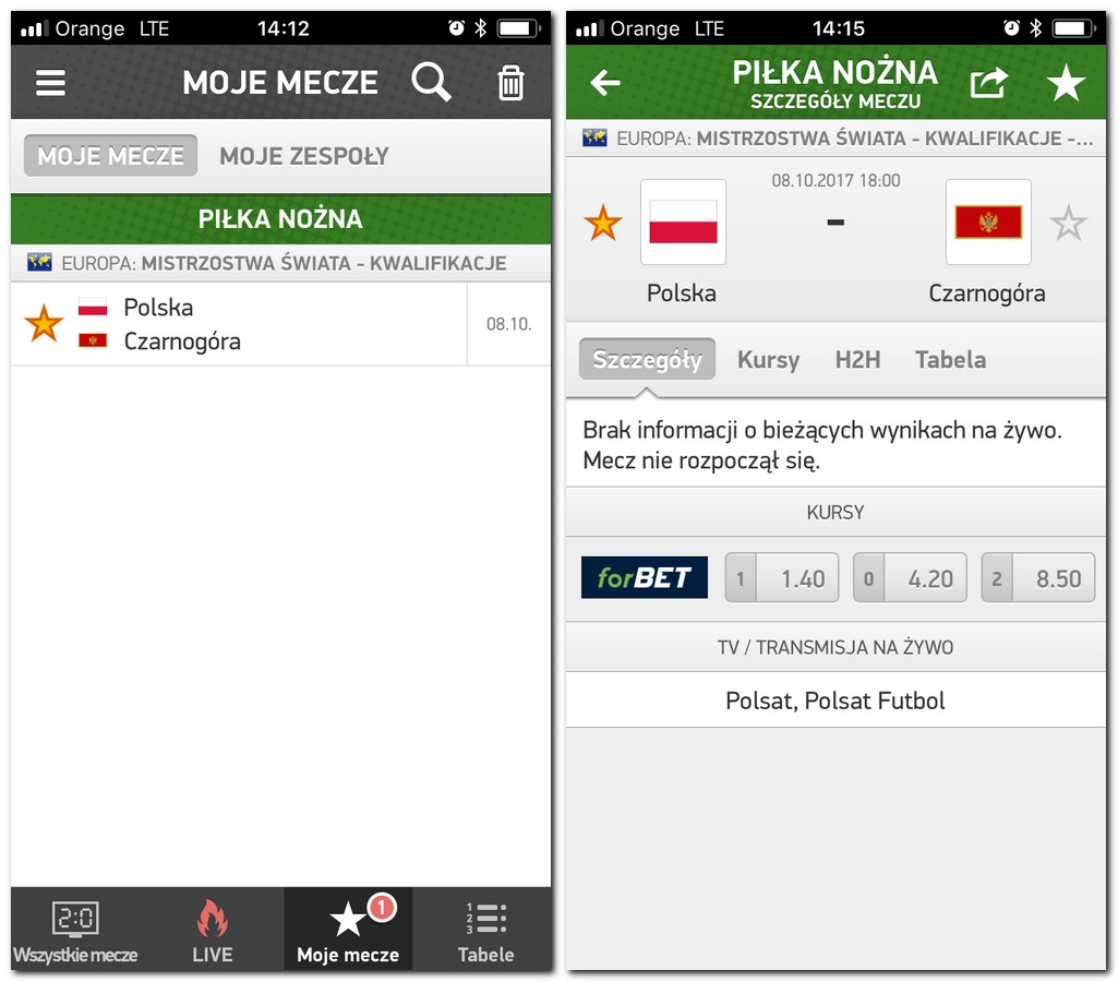 Flashscore - aplikacja do śledzenia wyników meczów na żywo