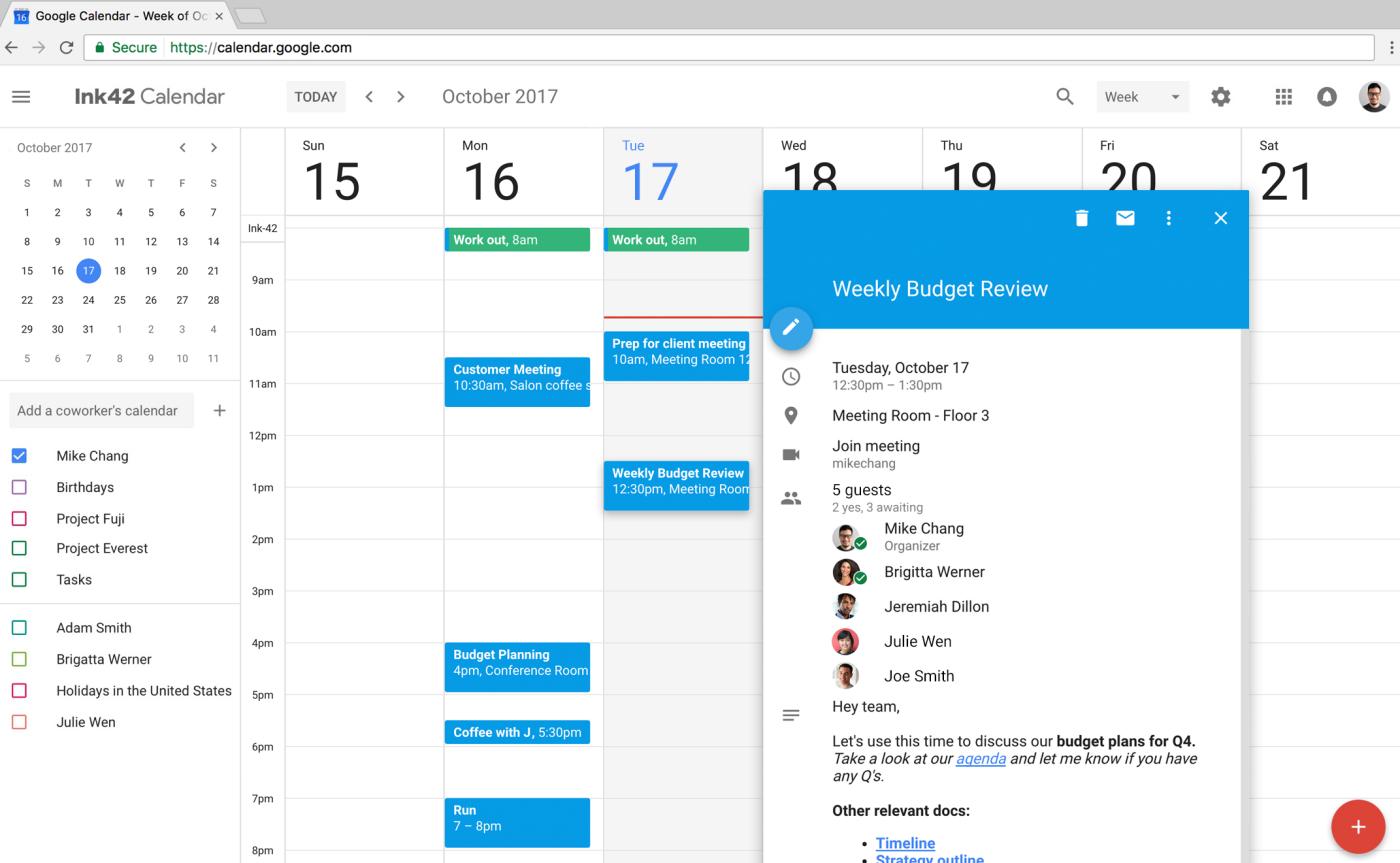 Nowy kalendarz Google