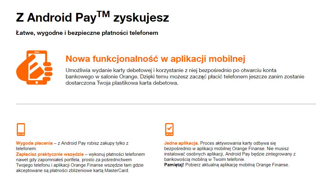 Orange Finanse umożliwia podpięcie karty płatniczej do aplikacji mobilnej