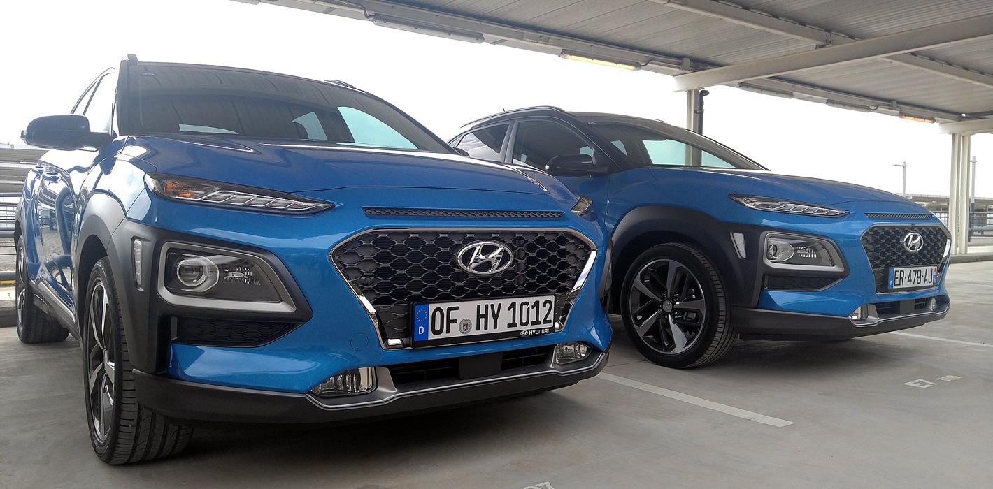 Hyundai Kona w niebieskim kolorze