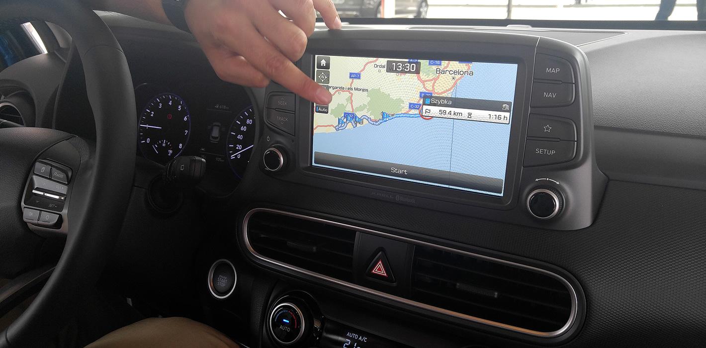 Nawigacja w Hyundai Kona