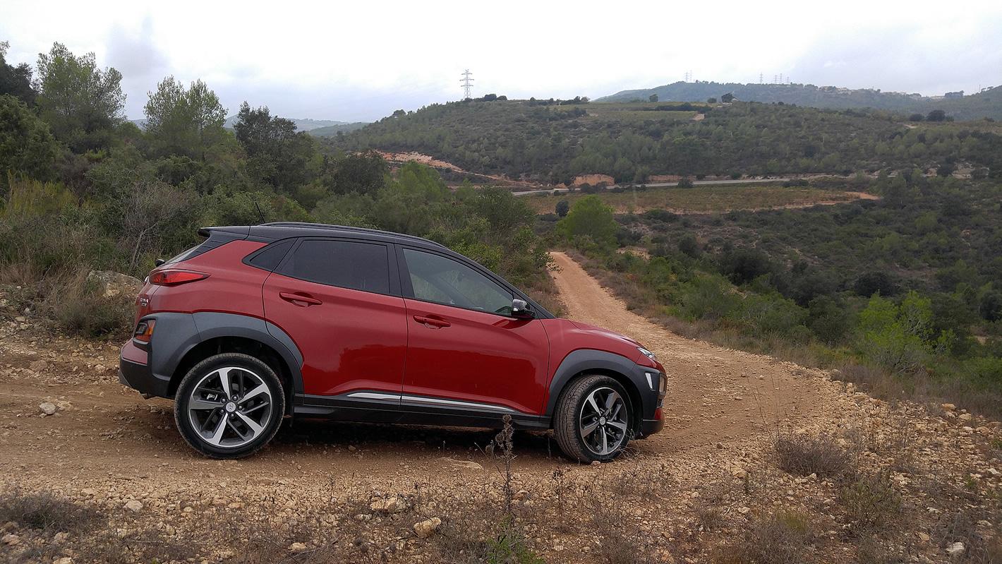 Hyundai Kona radzi sobie także na stromych podjazdach i zjazdach