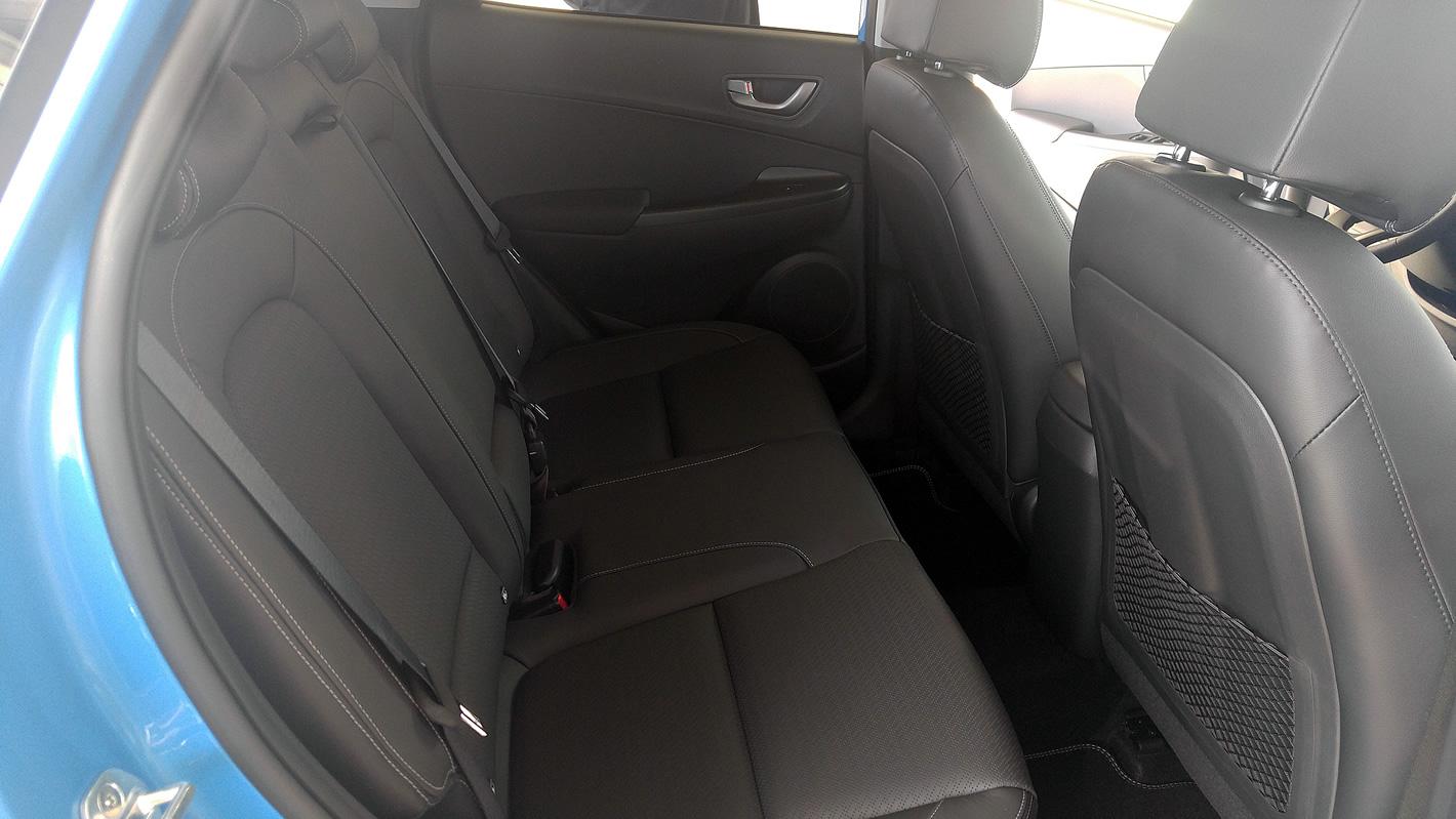 Ilość miejsca na tylnej kanapie w Hyundai Kona