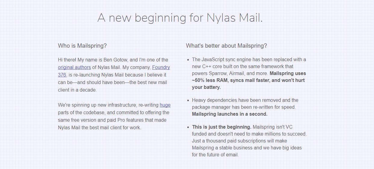 Mailspring - darmowy klient poczty email na desktopy