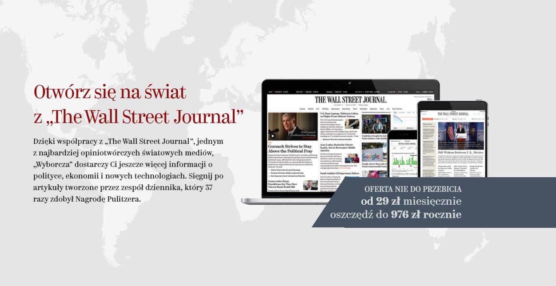 Wyborcza i The Wall Street Journal we wspólnej subskrypcji