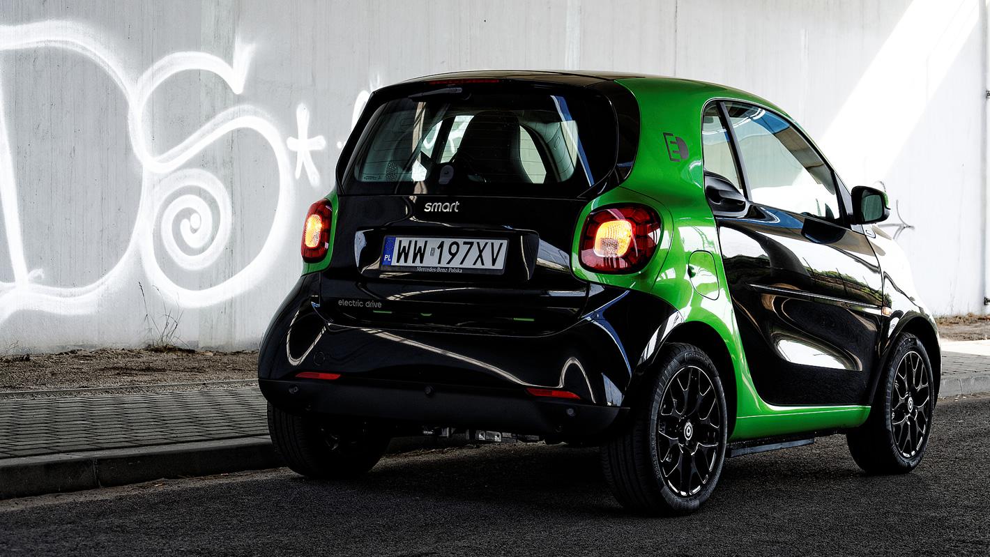 smart fortwo electric drive - wygląd z tyłu