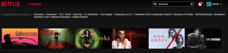 wyszukiwarka netflixa - stacje tv