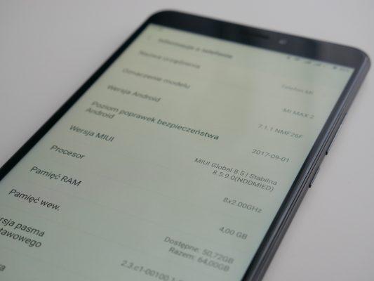 Xiaomi Mi Max 2 - dane techniczne