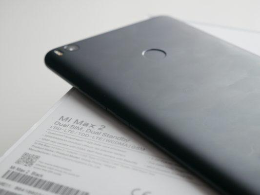 Xiaomi Mi Max 2 - skaner biometryczny