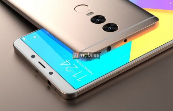 wygląd smartfona firmy Xiaomi z przodu i z tyłu
