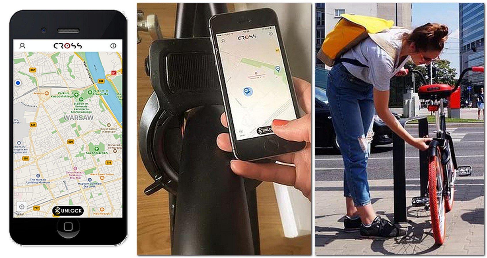 cross aplikacja i rower miejski