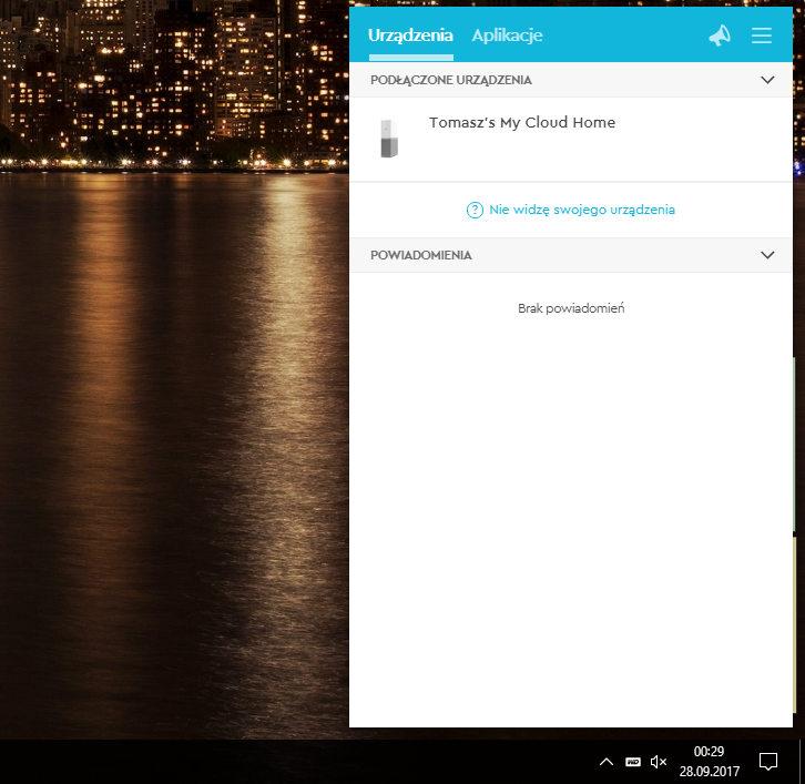 My CLoud Home app podłączone urządzenia windows