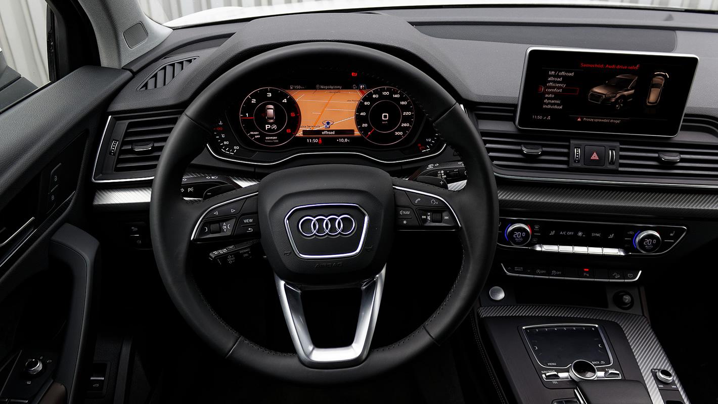 Pozycja za kierownicą w Audi Q5
