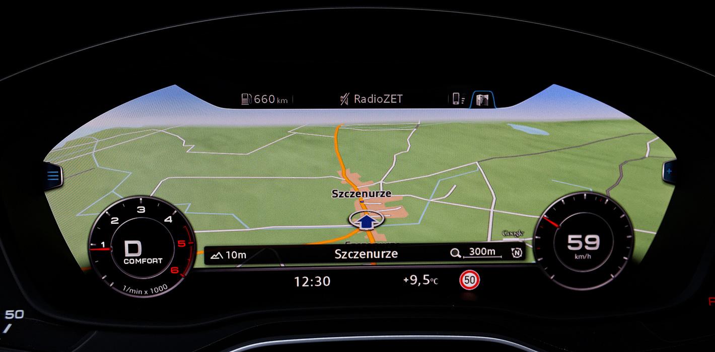 Audi Q5 - wirtualny kokpit