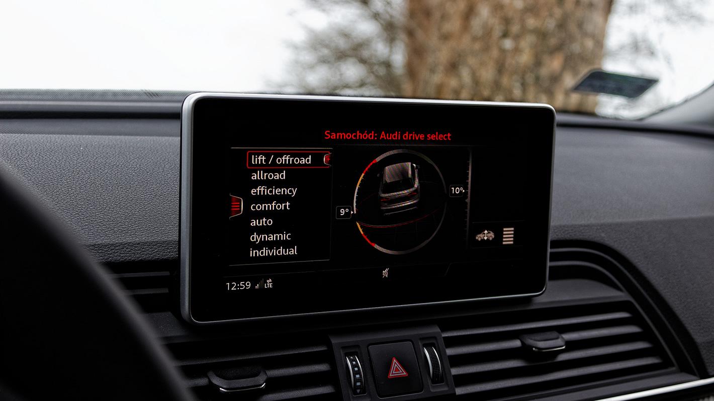 Audi Q5 - centralny ekran