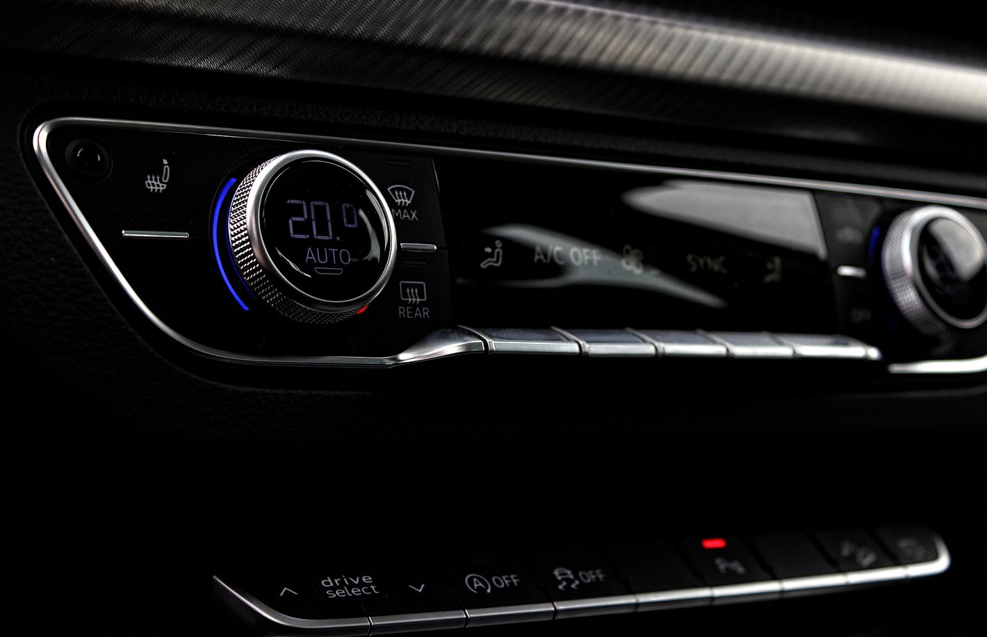 Audi Q5 - przełączniki i przyciski