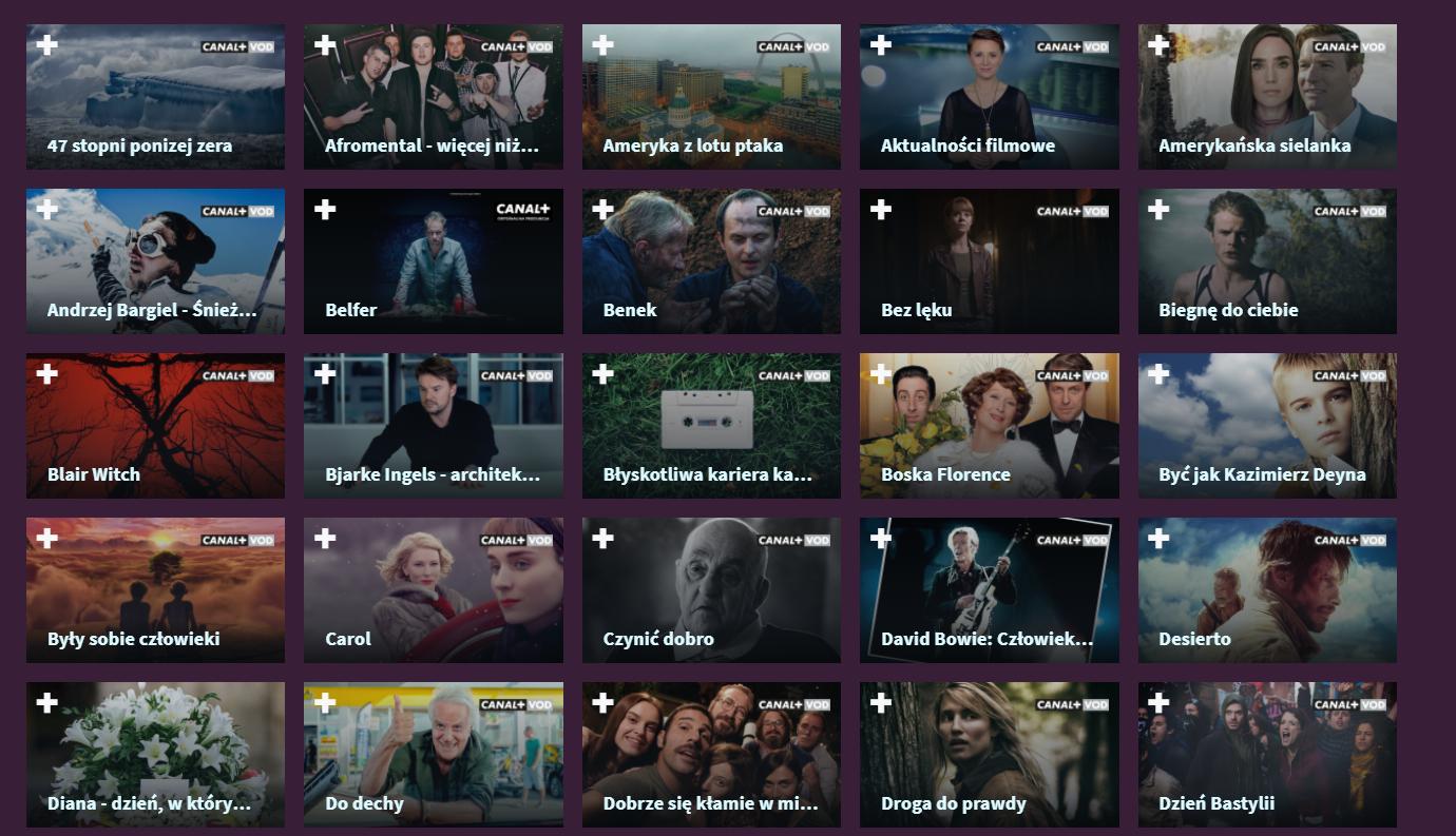 Kanały Canal+ online oraz Canal+ VOD