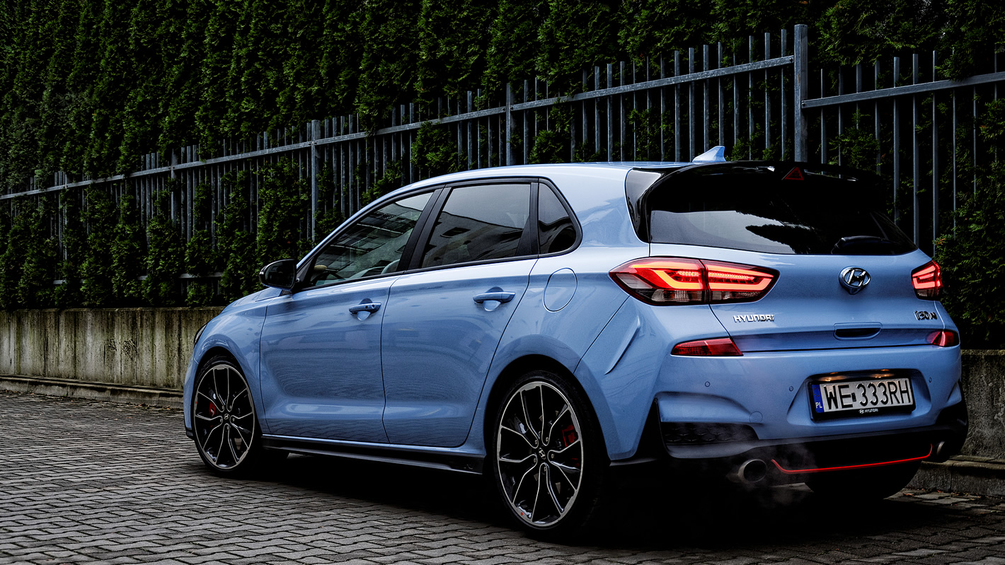 Hyundai i30 N Performance z tyłu
