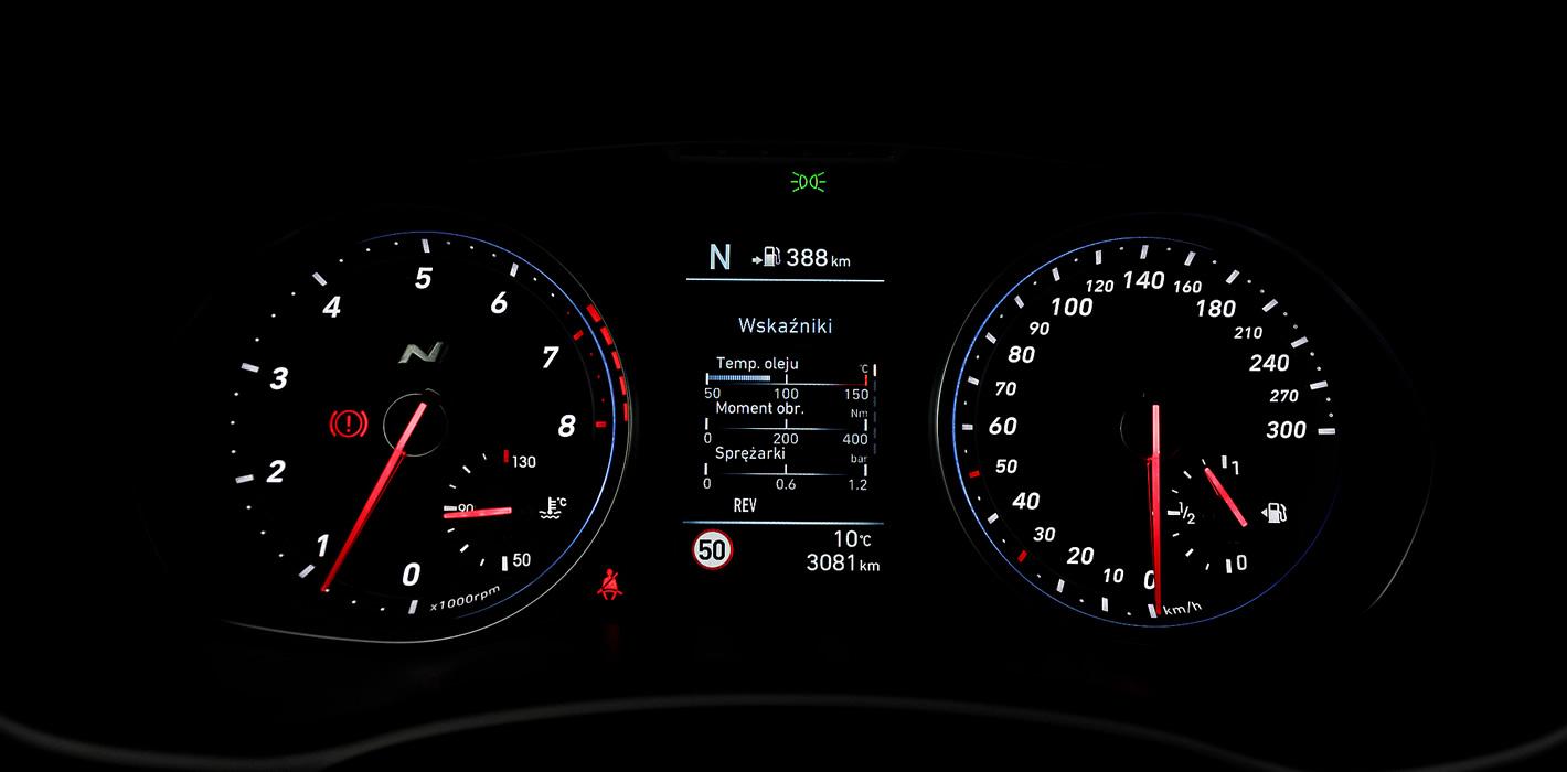 Hyundai i30 N Performance - zegary
