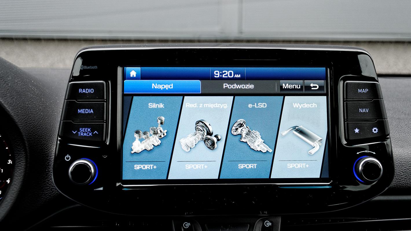 Hyundai i30 N Performance - tryby jazdy
