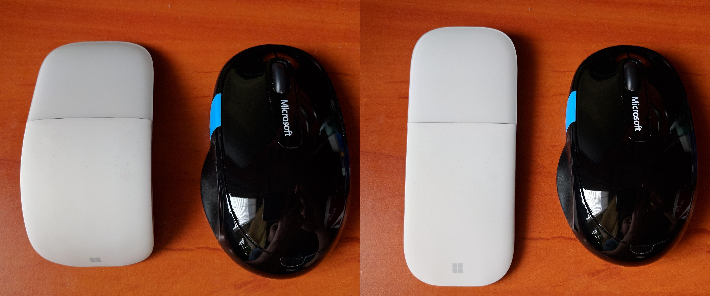 Microsoft Surface Arc Mouse - porównanie myszek Microsoft