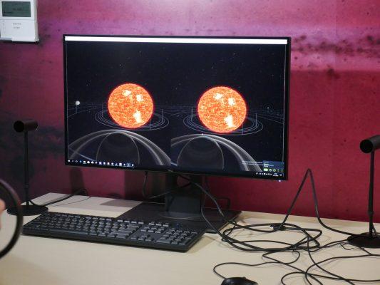 planety, układ słoneczny, słońce na monitorze