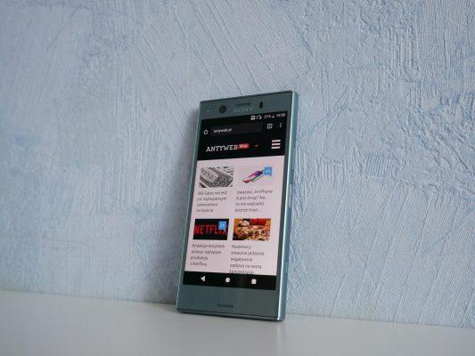 5,48 calowy ekran w Sony Xperia XZ1 Compact