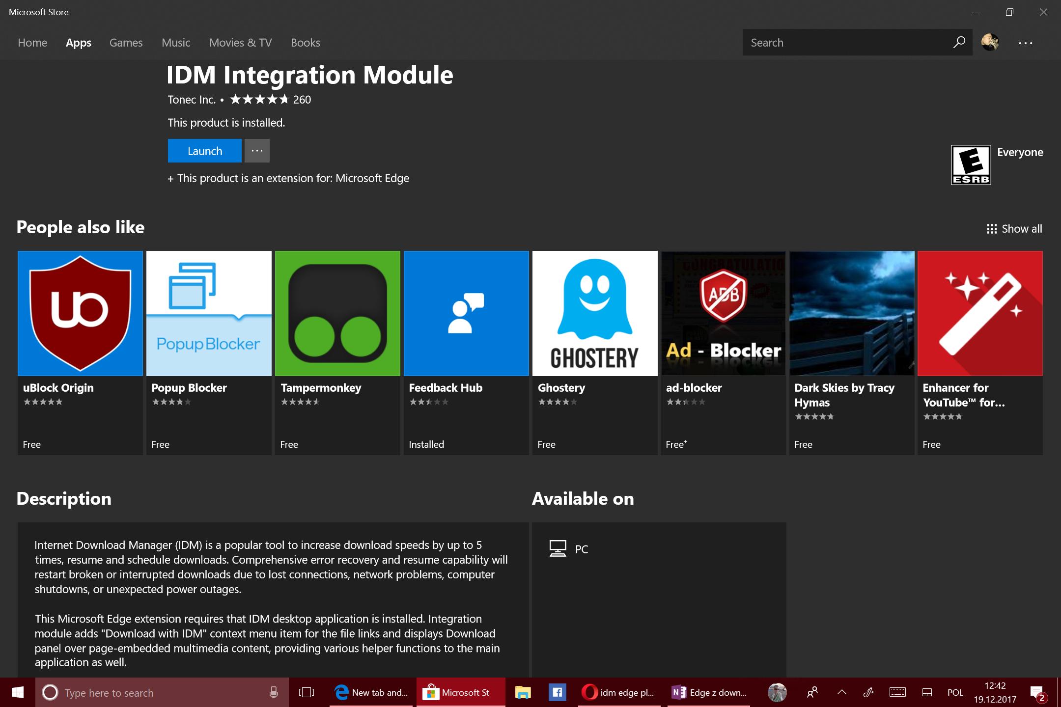 Repozytorium wtyczek w Microsoft Store