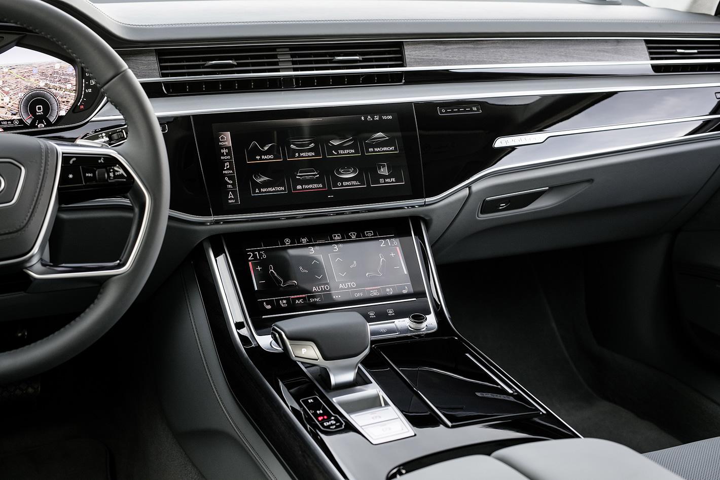 Centralna konsola w Audi A8