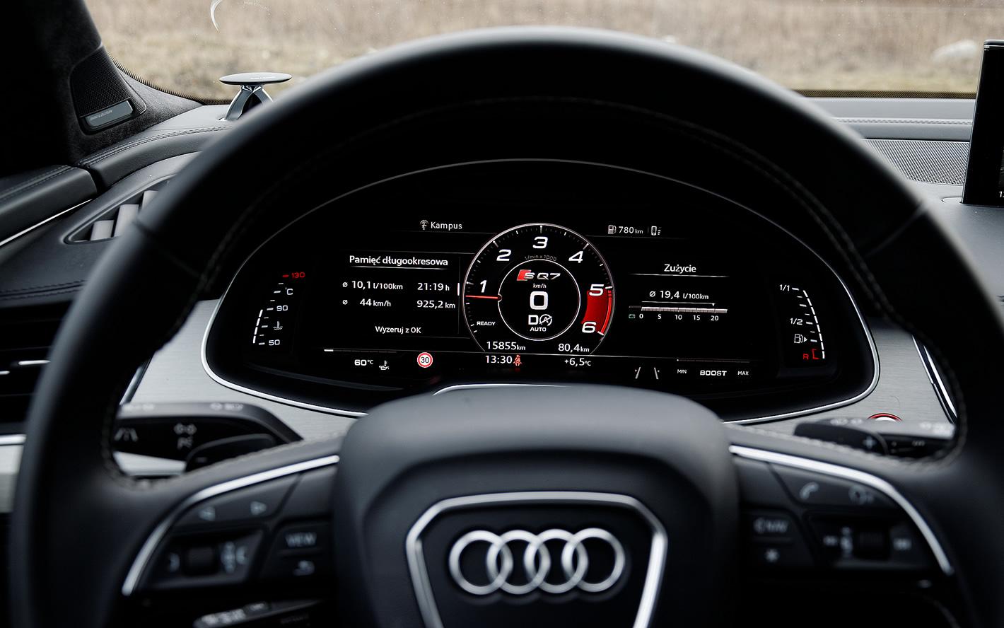 Audi SQ7 TDI - wirtualny kokpit