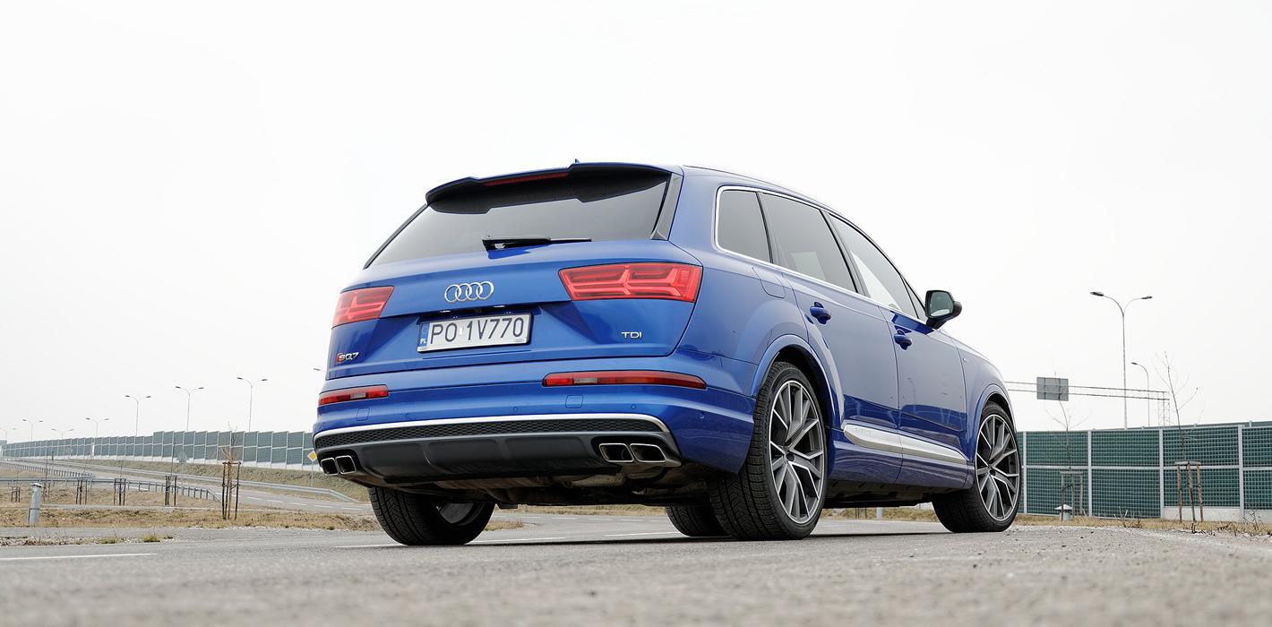 Audi SQ7 TDI: końcówki wydechu