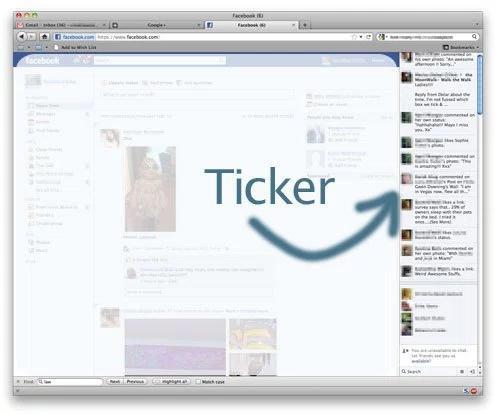 Opis działania Facebook Ticker