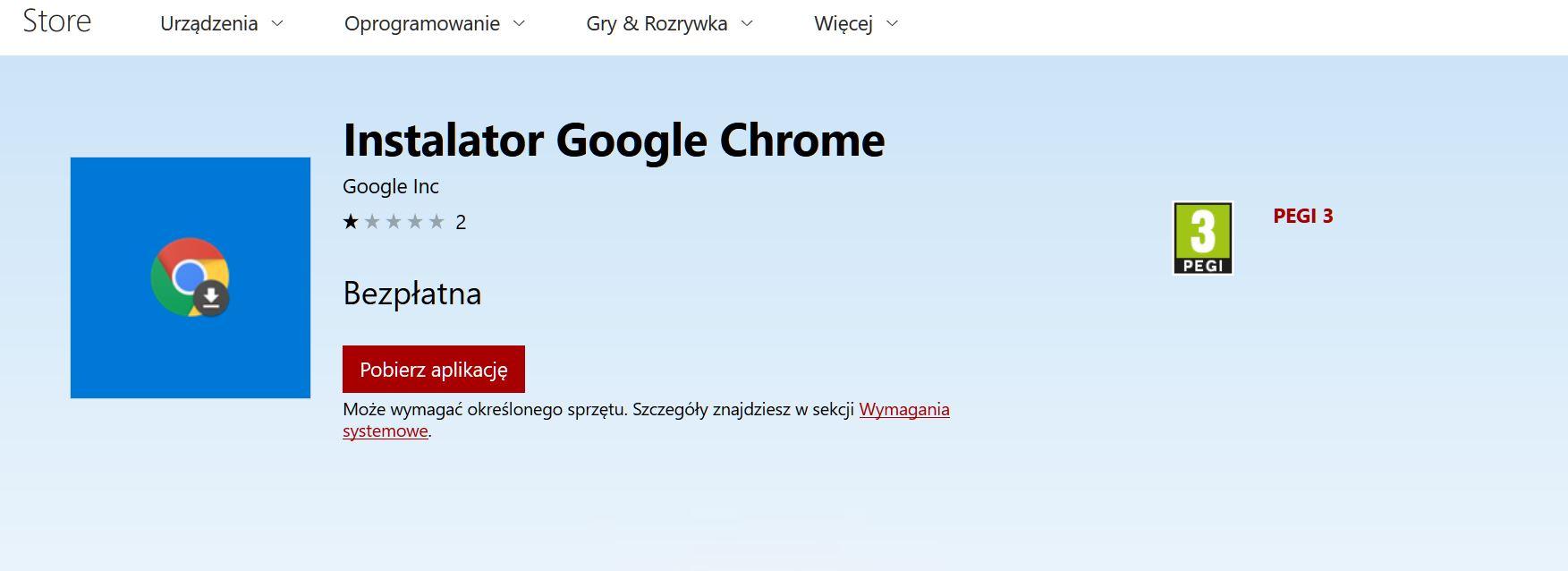 instalator Google Chrome