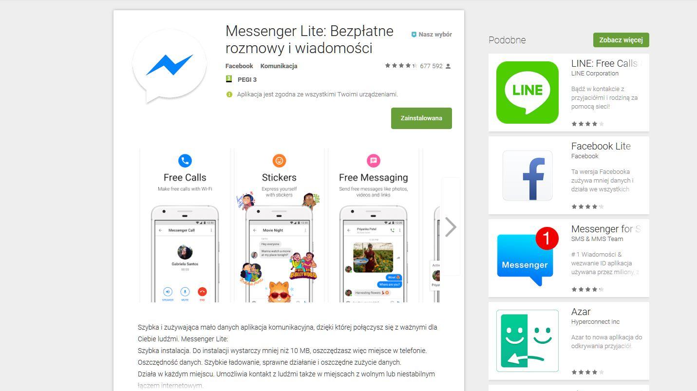Facebook Messenger Lite Google Play