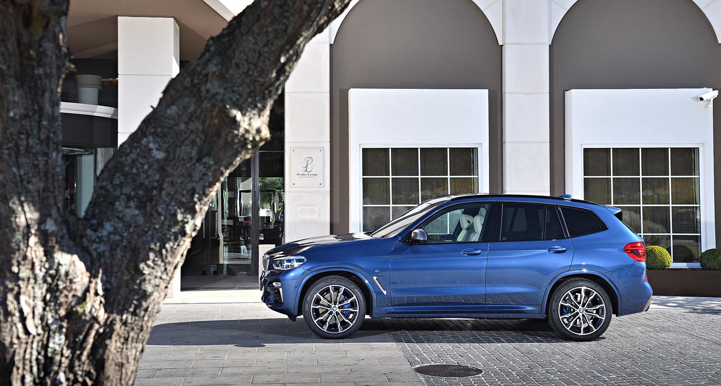 Nowe BMW X3 z boku