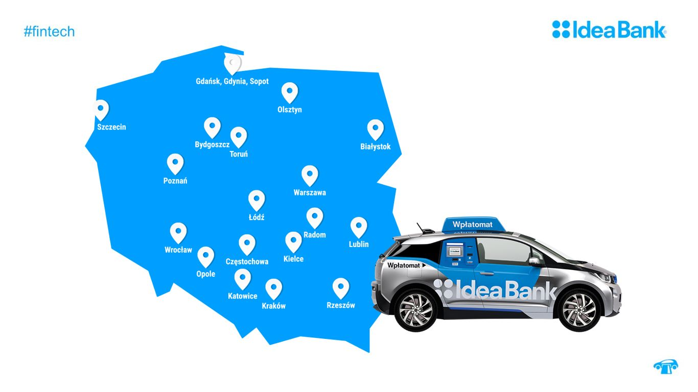 Mobilne wpłatomaty Idea Banku
