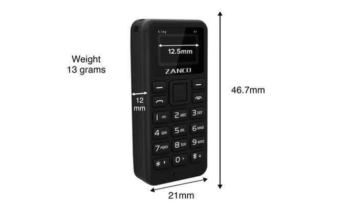 Oto najmniejszy telefon na świecie!