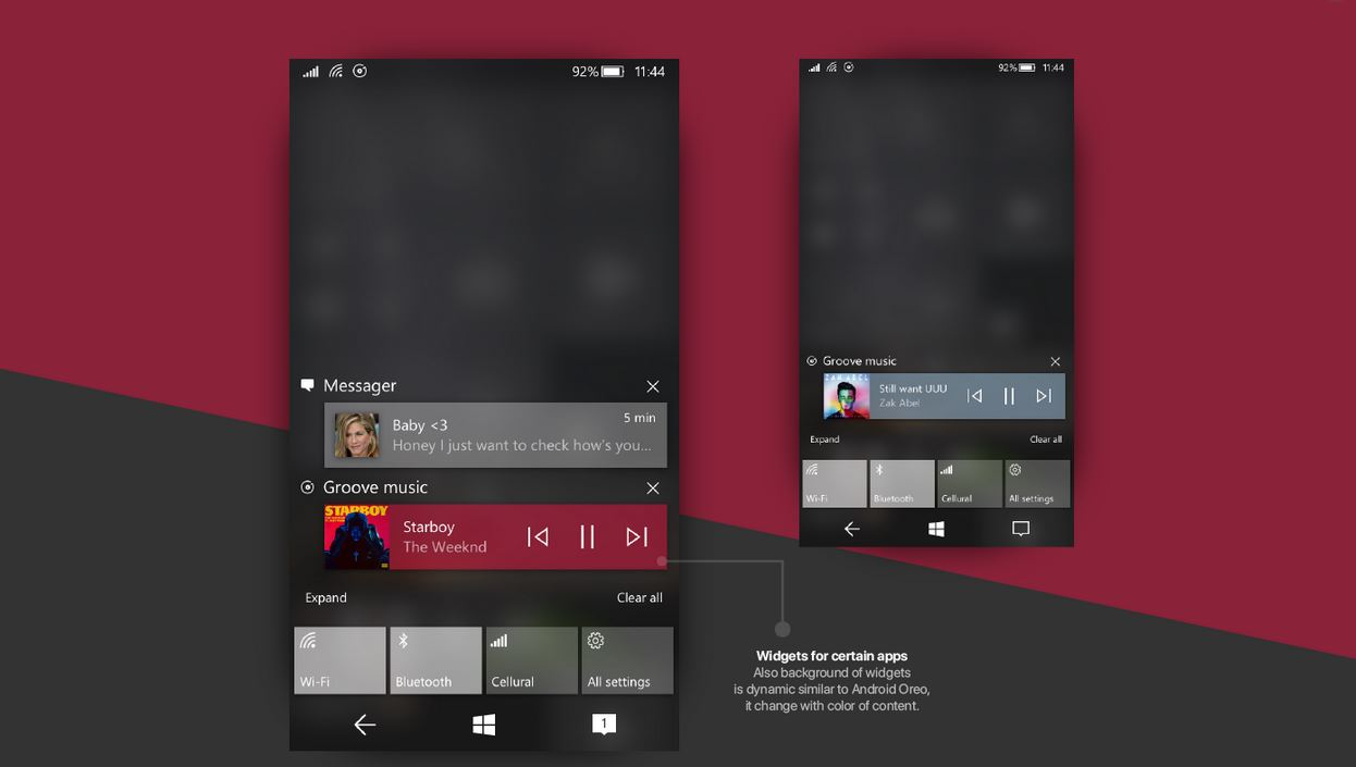 Windows 10 Mobile Fluent Design