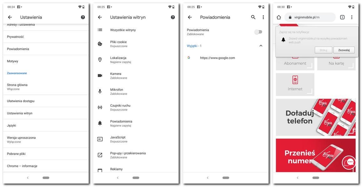 Jak wyłączyć powiadomienia Chrome Android