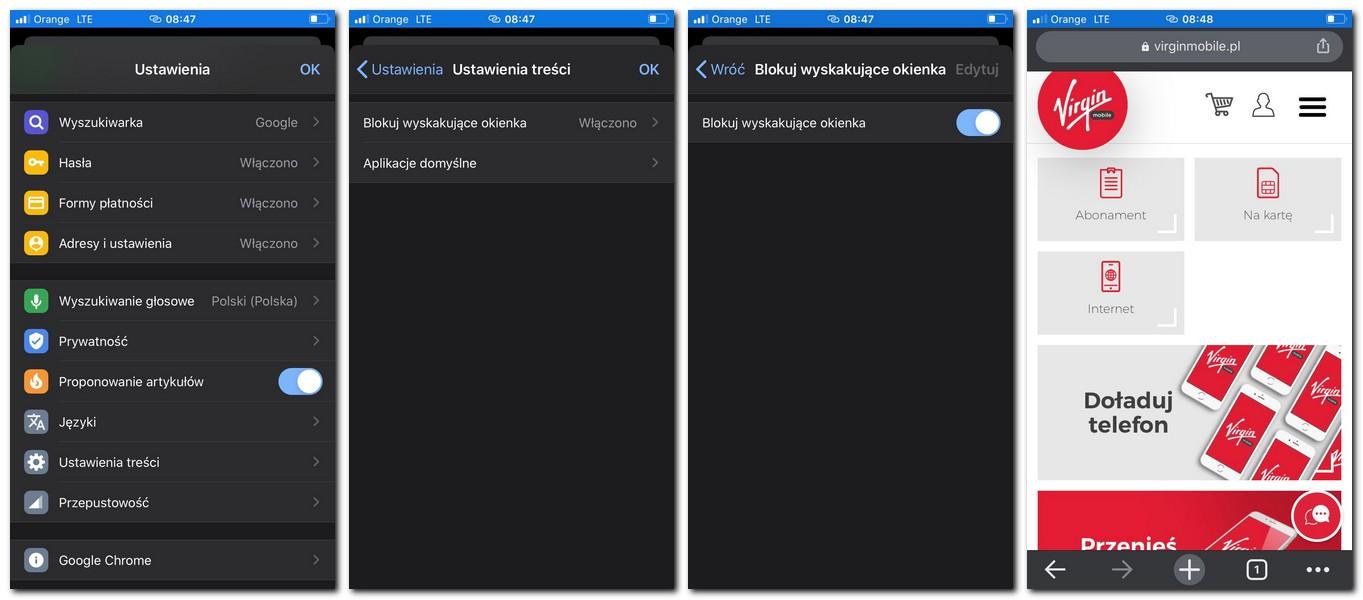 Jak wyłączyć powiadomienia Chrome iOS