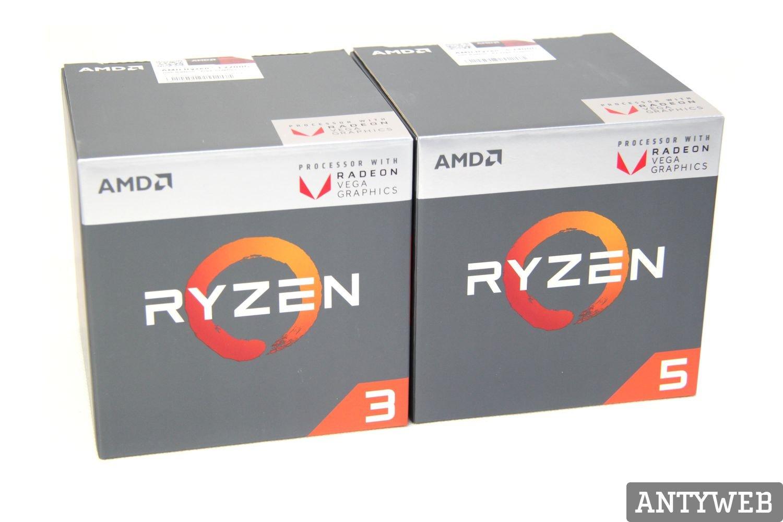 AMD Ryzen 5 2400G i Ryzen 3 2200G - opakowanie BOX