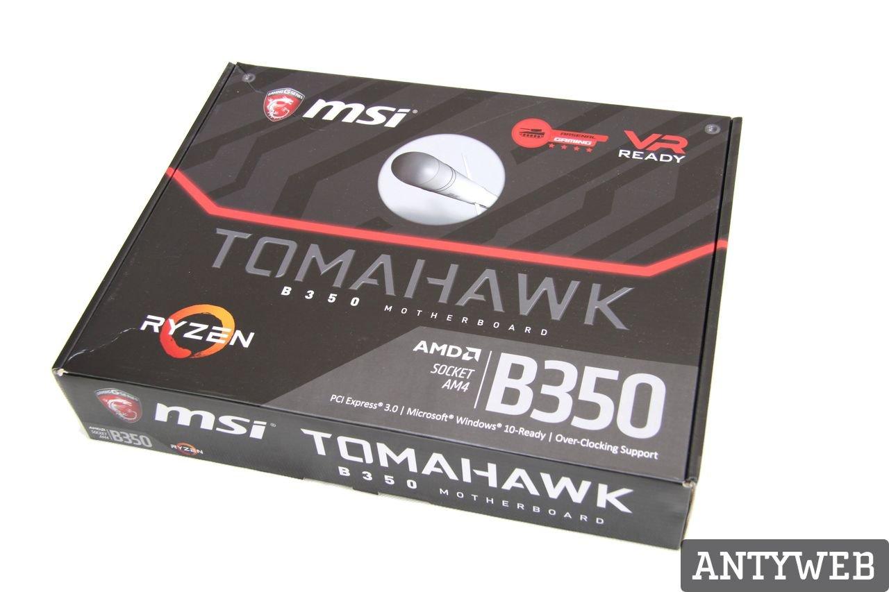 MSI B350 Tomahawk Ryzen 7 1800X recenzja