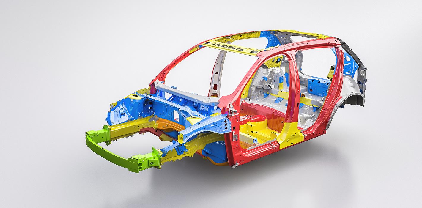 Volvo XC40 - konstrukcja karoserii
