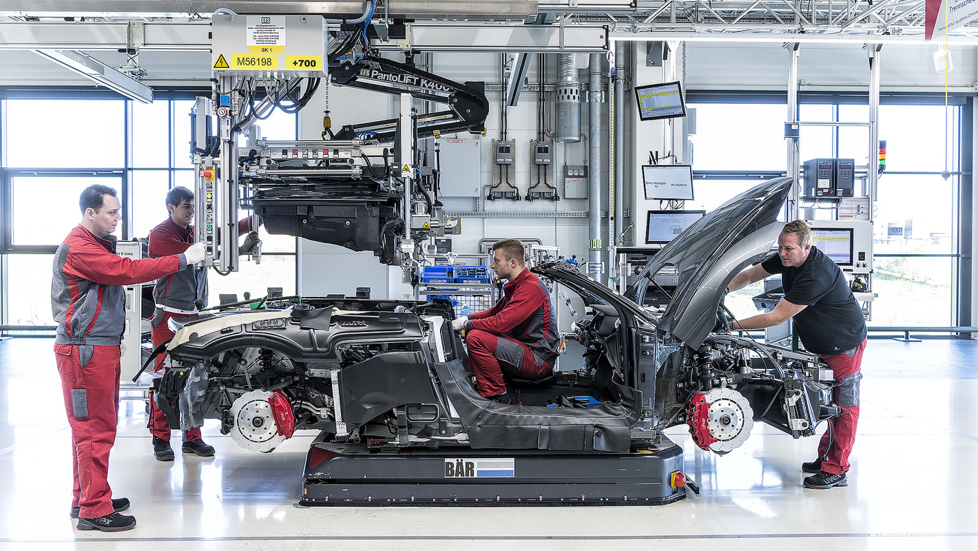 Audi R8 - manufaktura
